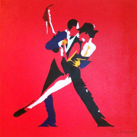 luca leonardo, kiss me kate (2016) acrylic on canvas [60x60 cm]