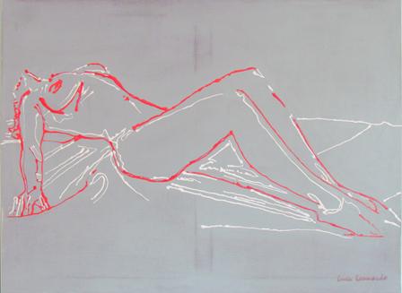 luca leonardo, acte (2016) acrylic on canvas [100 x 70]