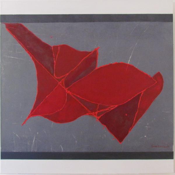 luca leonardo, chiffons volants (2016) acrylic on canvas [100 x 100]