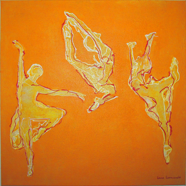 luca leonardo, yellow moves (2016) acrylic on canvas [80 x 80]