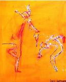 luca leonardo, ballett moves (2015) acrylic on canvas [40 x 50 cm]