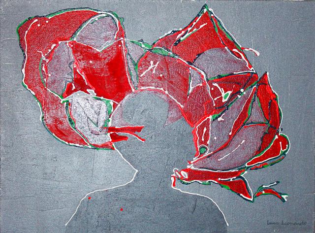 luca leonardo, TuchSpiel (2015) acrylic on canvas [80 x 60 cm]